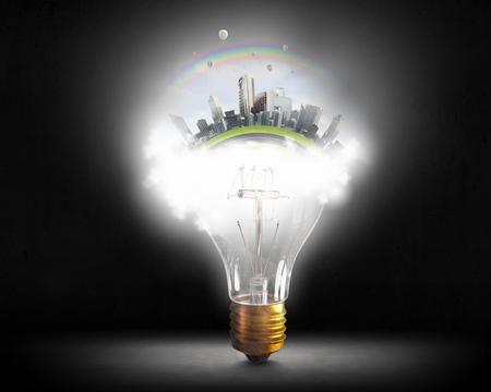 Think green concept. Mixed media Reklamní fotografie