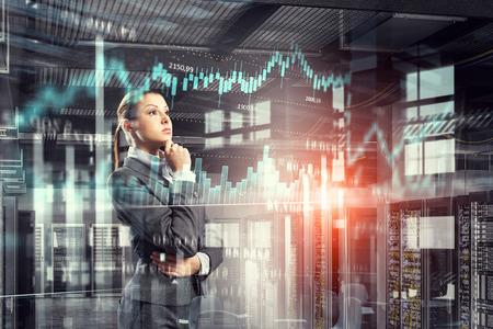 Innovative technologies as symbol for progress. Mixed media Stock Photo