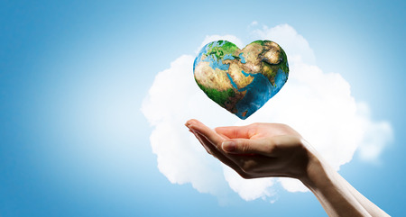 Con amor a nuestro planeta Foto de archivo - 80186827