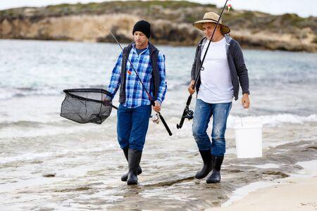 Picture of fisherman Reklamní fotografie - 80390036