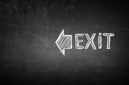 Chalk written exit word