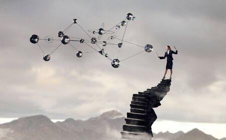 Technologies connecting the world . Mixed media Stockfoto