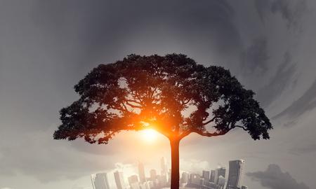Eco life concept . Mixed media