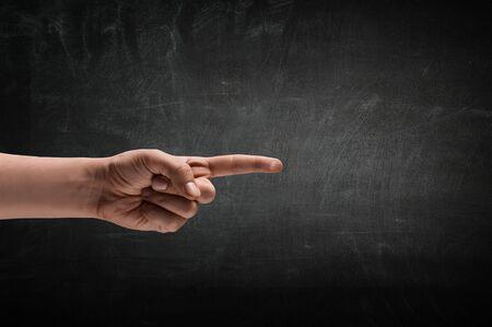 Showing choosing gesture . Stock fotó