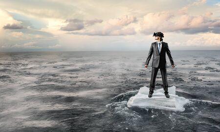 Experience virtual reality. Mixed media