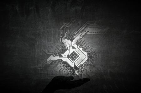 パームの回路アイコン 写真素材