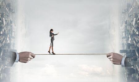 Brave enough to make risky steps. Mixed media