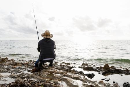 Picture of fisherman Reklamní fotografie - 81769053
