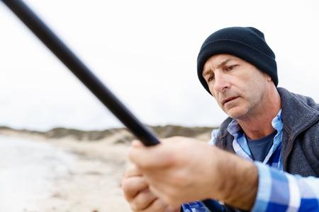 Picture of fisherman Reklamní fotografie - 81769169