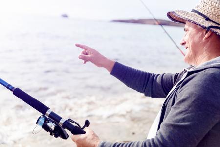 Picture of fisherman Reklamní fotografie - 81769230