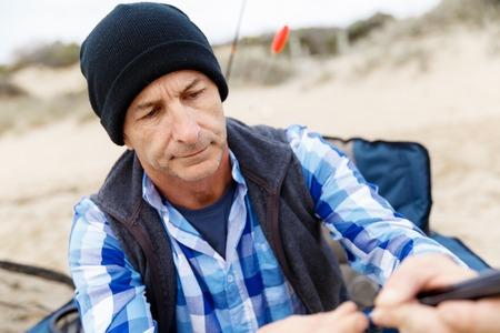 Picture of fisherman Reklamní fotografie - 81769346