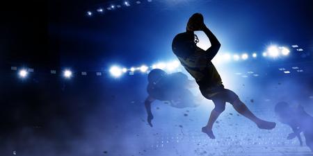ボールのための戦い。ミクスト メディア