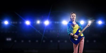 Rock musician at concert