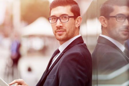Portrait of handsome businessman outdoor Zdjęcie Seryjne