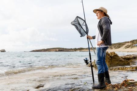 Picture of fisherman Reklamní fotografie - 82558369