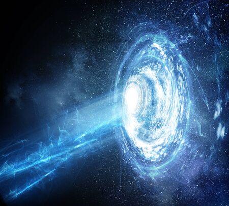 Stars dust and gas nebula in a far galaxy