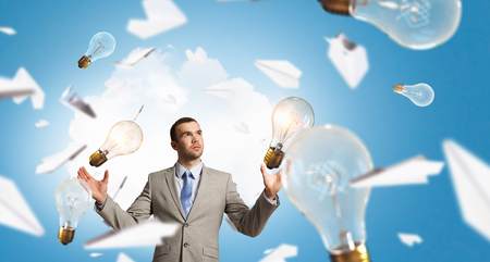 Creative ideas as business solution Stock Photo