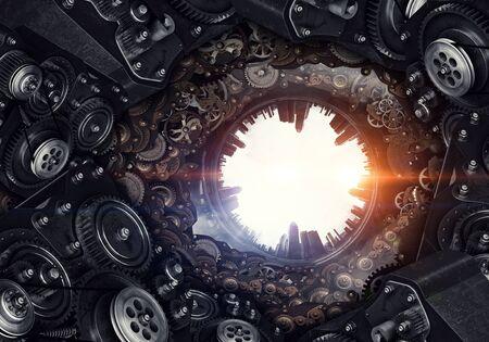 Metal gear mechanism 版權商用圖片