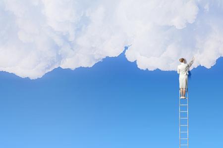 Climbing up to sky