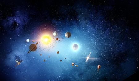 Solar system planets 版權商用圖片