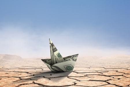 Concept of financial crisis. Mixed media Standard-Bild