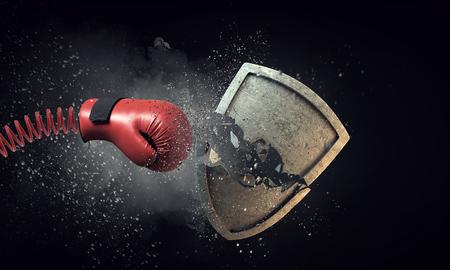 ボクシング グローブの驚き。ミクスト メディア 写真素材 - 83014190