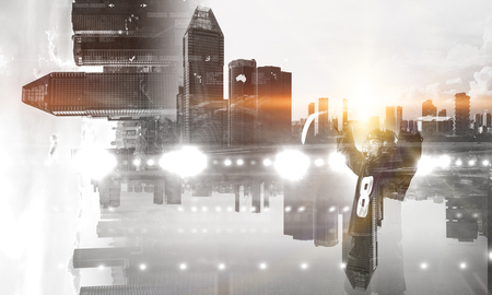 Joueur de hockey célébrer les médias mixtes mixtes Banque d'images - 83317277