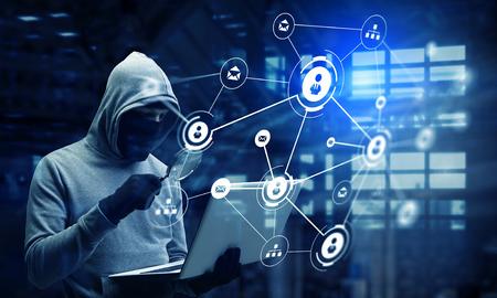 robo: seguridad de la red y el crimen privacidad. Técnica mixta