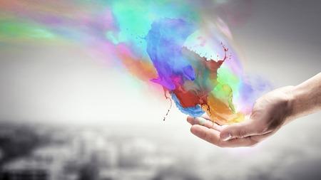 Meer kleuren in je leven Stockfoto