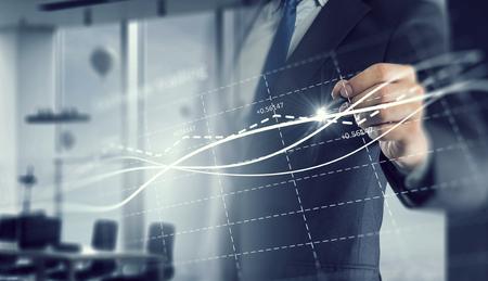 Dynamik des Marktwachstums Standard-Bild