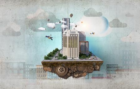 Concetto di città moderna. Media misti Archivio Fotografico - 83479948