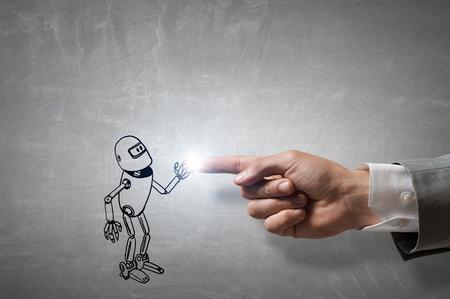 Funny sketched robot