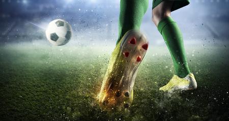 Voetbal doel moment. Gemengde media