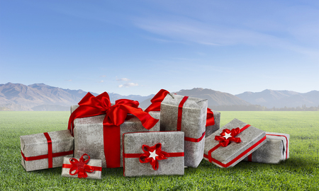 Many Christmas packages Stock Photo - 83689989