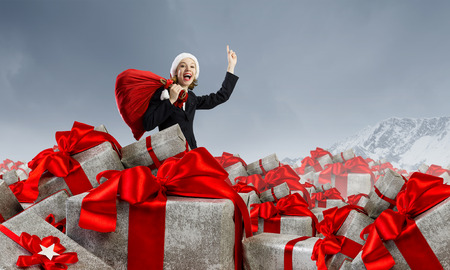 Are you ready for Christmas . Mixed media Stock Photo