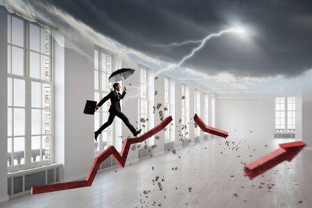 Overcoming bad times. Mixed media