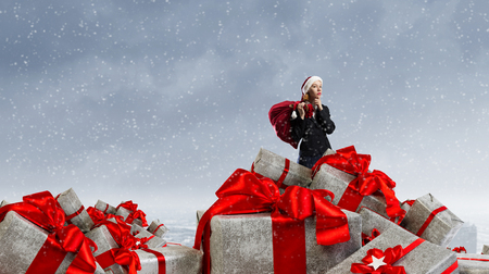 Are you ready for Christmas . Mixed media . Mixed media Stock Photo