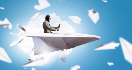 Dreaming to be aviator. Mixed media . Mixed media