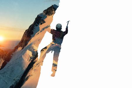Alpinism sport as concept. Mixed media . Mixed media