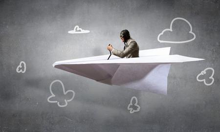 Dreaming to be aviator. Mixed media