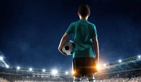 Little soccer champion. Mixed media . Mixed media