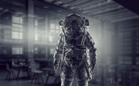 Space suit design. Mixed media Stok Fotoğraf