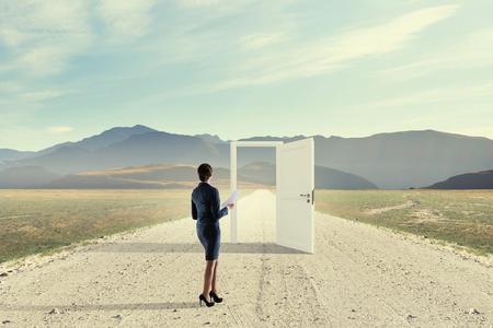 Open new doors and opportunities . Mixed media Stock Photo - 84629076