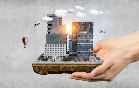 Städtische bauentwicklung Gemischte Medien