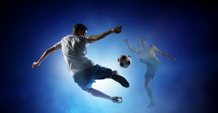 Soccer best moments. Mixed media Stock Photo - 84629327
