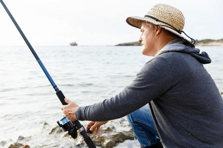 Picture of fisherman Reklamní fotografie - 85353188