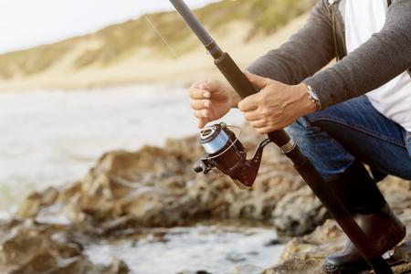 Picture of fisherman Reklamní fotografie - 85508405