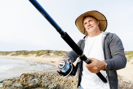 Picture of fisherman Reklamní fotografie - 85508413
