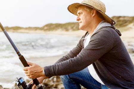 Picture of fisherman Reklamní fotografie - 85810655