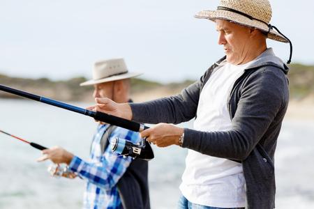 Picture of fisherman Reklamní fotografie - 85810692